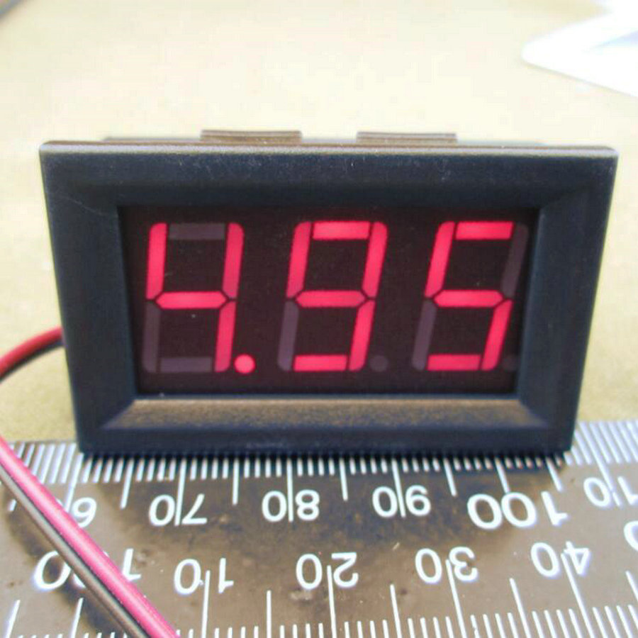 10 PCS 2 Wires 0.56 Inch Digital Voltmeter 4.5-30V/ DC4.5-30V Red  LED Vehicles Motor Voltage Panel Meter LED Voltmeter Tools