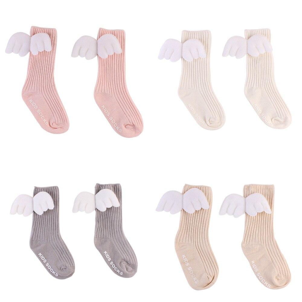 0-4y Baumwolle Neugeborenen Baby Socken Nette 3d Engel Wings New Reborn Baby Mädchen Socken Kinder Weich Beinlinge Nachfrage üBer Dem Angebot