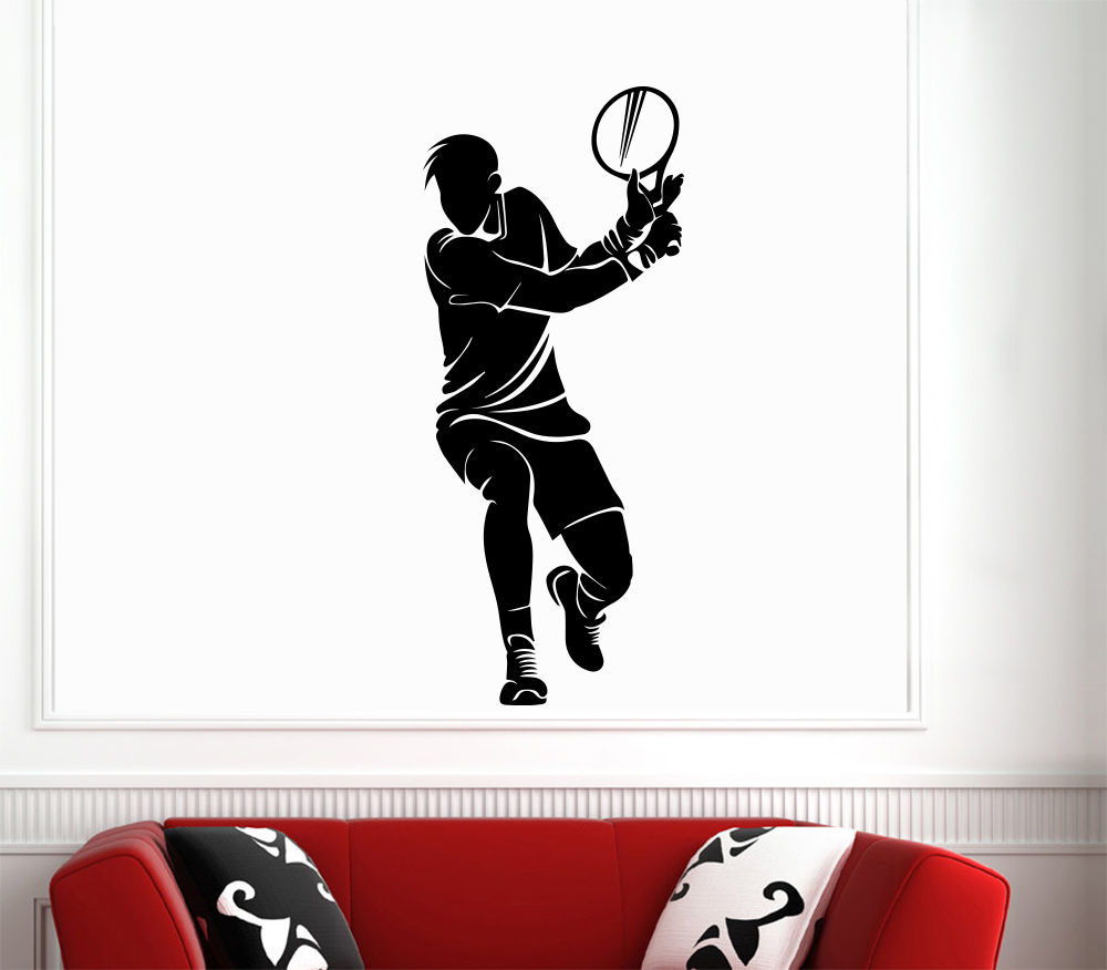 0f51615452a ᗛWall Decals Sport Tennis Player Bedroom Vinyl sticker Decor - a661