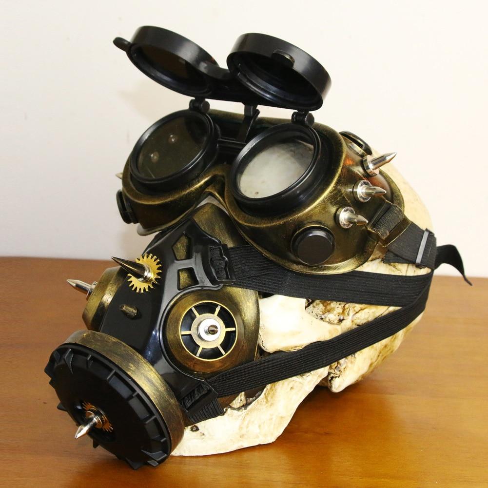 Steampunk gafas Vintage gótico accesorios para Halloween Unisex Cosplay máscara de Gas, máscaras para fiesta