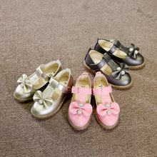 Spring and Autumn 20117 new fashion bowknot girls leather rhinestone princess shoes kids shoes high quality kids leather shoes