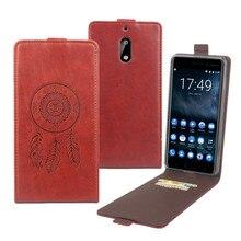 Колокол Luxury кожаный чехол для Nokia 6/Nokia6 TA-1000 5.5 «Мобильный Телефон откидная крышка с Слот для карты корпуса мобильного телефона Корпус