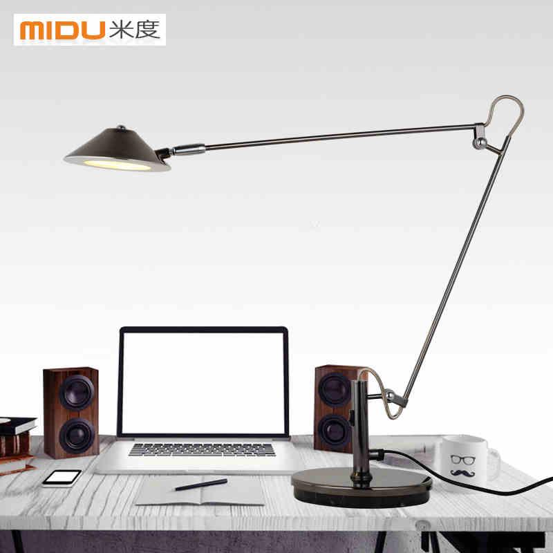 Desk Work Lamp: LED work lamp the students reading lamp bedside lamp that shield an eye  telescopic folding metal,Lighting