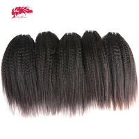 Ali Queen Hair Brazilian Virgin Hair Kinky Straight Human Hair Weave Wholesale 10pcs Lot Natural Color Free Shipping