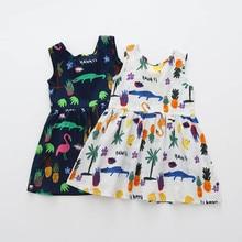 2018 New Fashion Toddler Girls Summer Princess Dress Kids Baby Party Wedding Sleeveless Dresses High Quality Drop Shipping