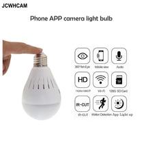 JCWHCAM 360 Degree Fisheye WiFi IP Camera Bulb 960P HD Panoramic Wireless Camera Nanny Camera Smart