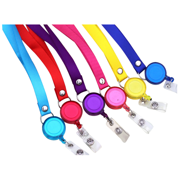 Affordable Retractable Badge Holder Reel Key Chain Reel with Lanyard Neck Strap for Key Cards and ID Cards, 6 Pieces 100 pcs clip retractable reel id badge holder key chain reels 10 colors