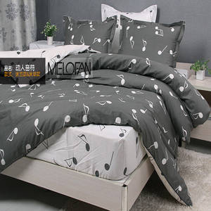 IMajors Bedding Set 100% Cotton Duvet Cover 4PC Bed Sheet