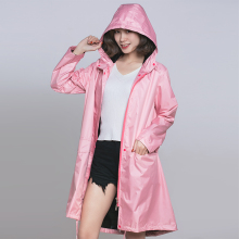 long raincoat women windproof waterproof Rainwear Outdoor Female  Rain coat Ponchos chubasqueros mujer black coating inside