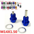 Fit for Suzuki Mazda 2pcs as a set Anodized Engine Magnetic Oil Pan Drain Plug Blot Crush Washer M14 x 1.50