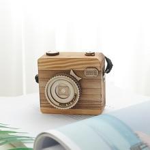купить Creative Camera Wooden Music Box Nursery Decoration Birthday Present Home Decor Accessories Gift For Girlfriend Dropshipping дешево