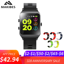 "Купить с кэшбэком Makibes BR3 Smart Watch 17 kinds Sports Strava Wristband IP68 Waterproof 1.3""Touchscreen Heart Rate Wristwatch Build-in GPS"