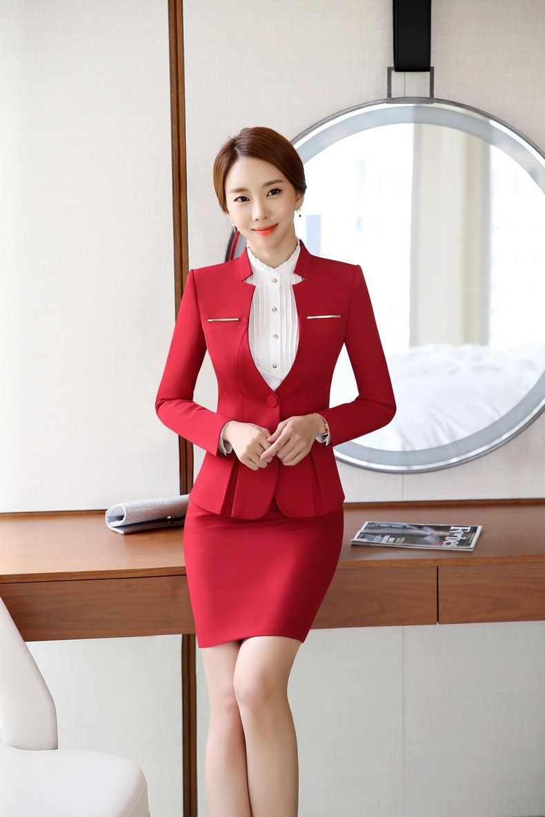 4bd7e6c94e8 Plus Size 4XL Professional Formal OL Styles Work Suits With Jackets ...