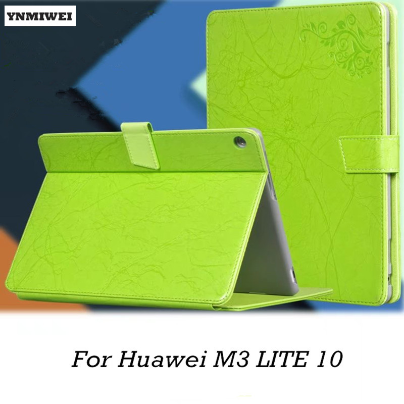 Leather Case For Huawei MediaPad M3 Lite 10 Colorful Printed Flip Cover Case For Media pad M3 Lite 10.1 BAH-W09 BAH-AL00 +Flim new case for huawei media pad m2 lite ple 703l 7 cover pu leather flip folding case shell tablet pc cases stylus free shipping