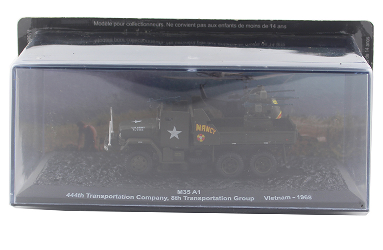 цена на 1/72 M35 A1 Vietnam War Military Truck Alloy Model Simulation Static Military Models Ornament Collection