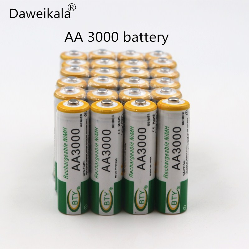 2018 New 12PCs BTY Ni-MH 1.2V AA Rechargeable Battery 800 mah 2A Baterias Bateria for Camera Model:AA 3000