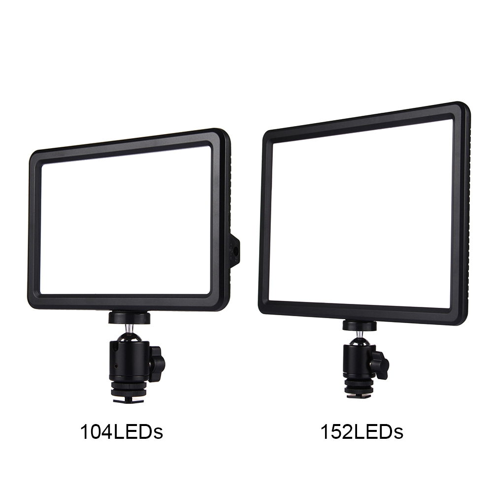 Professional Camcorder LED Camera Light 104/152 Beads LED Video Light Photograph Fill Lamp With Hot shoe Mount Adapter 10w 500lm 150 led professional camera video fill light black