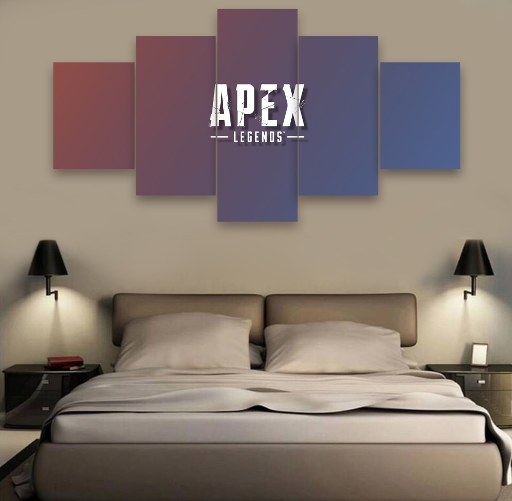 5 Pieces Canvas Painting Wall Art Modern HD Print Game Apex legends On Room Decoration Artwork