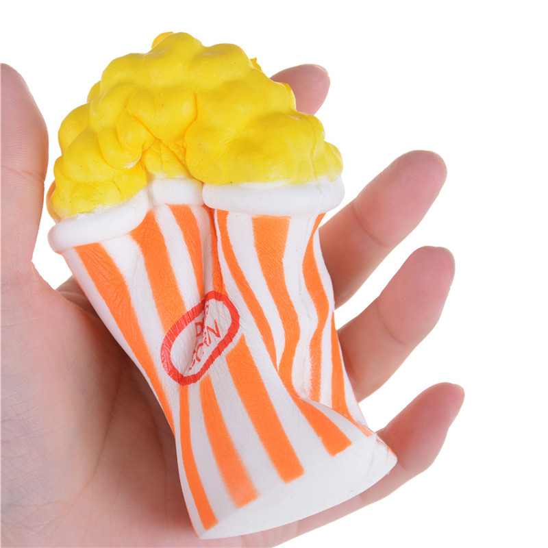 Mobile Phone Accessories Enthusiastic Jetting Soft Slow Rising Squeeze Phone Straps Pendant Cream Scented Food Cake Bread Kid Toy Fun Gift 12cm Popcorn Squishy Jumbo Moderate Cost