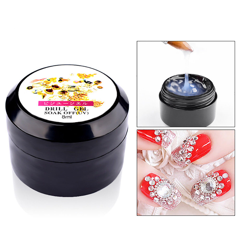 8ml Nail Art Glue Gel Super Sticky Adhesive UV Gel Nail Polish Glue For DIY Nail Art Rhinestone Gem Jewelry Decoration Accessory