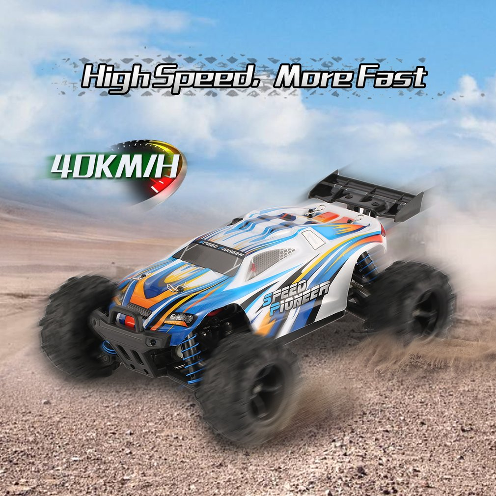 Hot Sale 1/18 4WD RC Off-Road Buggy Vehicle High Speed Racing Car for Pioneer RTR Monster Truck Remote Control Toy Gift For Kids new 7 2v 16v 320a high voltage esc brushed speed controller rc car truck buggy boat hot selling