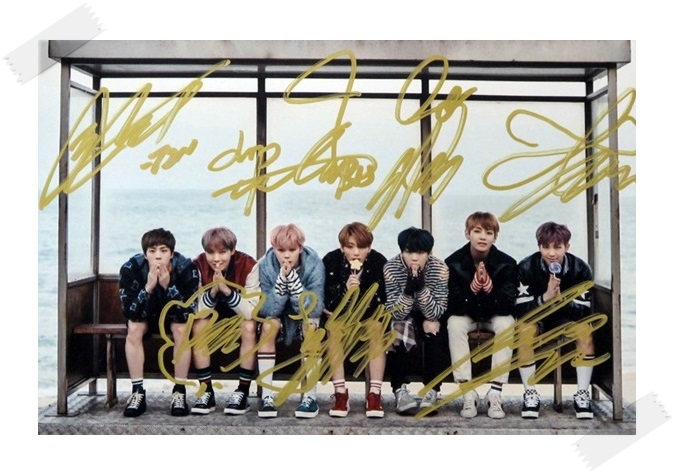BTS  autographed signed  photo You Never Walk Alone 10*15cm 4*6inches freeshipping new korean  02.2017 bts jung kook autographed signed photo wings 4 6 inches korean freeshipping 03 2017