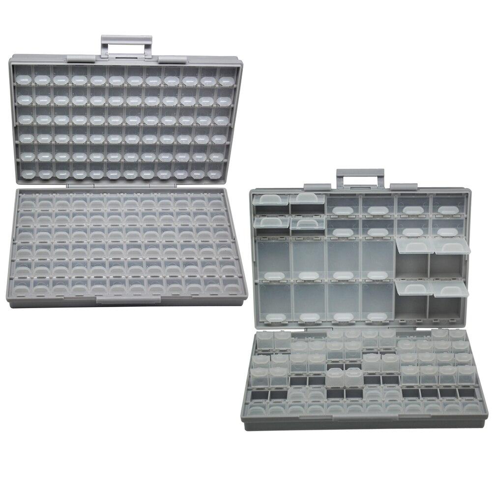 AideTek SMT plastics Box storage toolbox Enclosure Compartments each w lid SMD BOXALL144 BOXALL96 Box Organizer