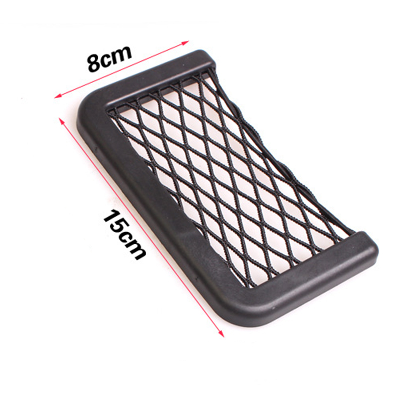 ZHIHUI 2 pcs car-styling upgrade Storage Net Bag Holder Pocket Organizer auto Interior Accessories car stowing tidying