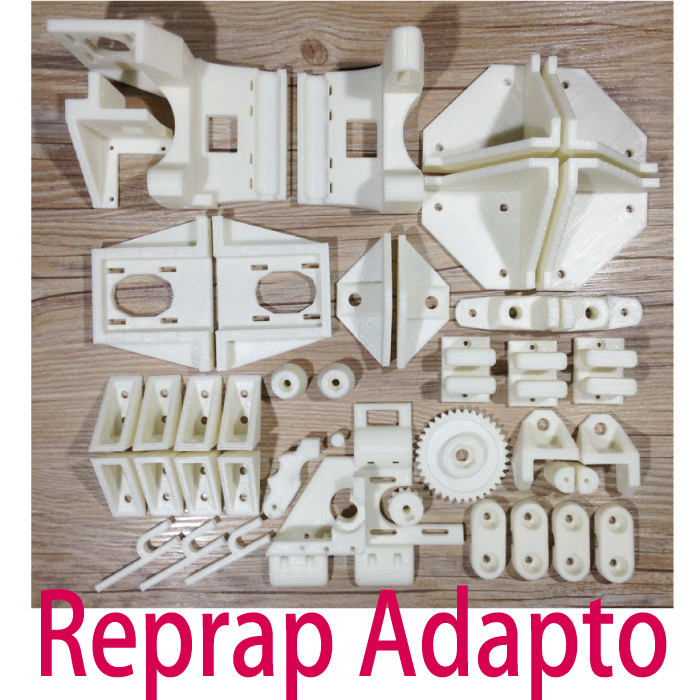 Reprap Adapto 4 3D Printer Updated Printed Plastic Part Premium KIT PLA Part Free Shipping gute cold rolled steel three section drawer slide heavy duty drawer track mute cabinet wardrobe kitchen cupboard slide rails