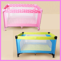 Newborn Baby Portable Foldable Children Game Bed Trolley Toddler Baby Square Game Cot Travel Crib Mosquito Net with Roll Wheels