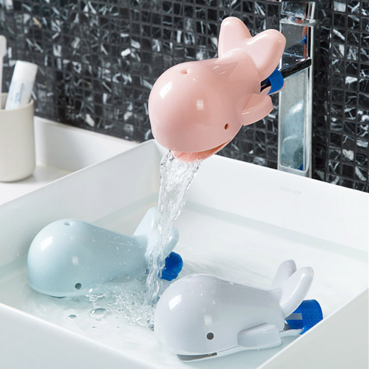 Cute Animals Whale Faucet Extender Baby Tubs Kids Hand Washi