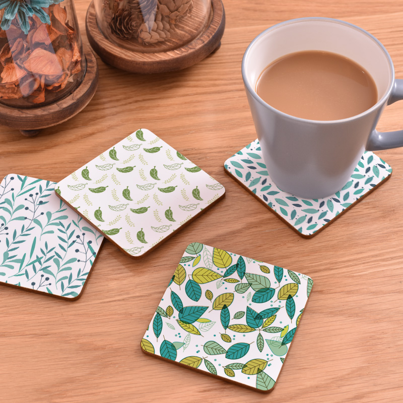 CFen As Creative Wood Coasters Cup Holder Non-slip Heat Proof Coffee Drink Tea Mat Table 1 piece