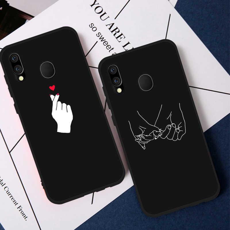 Amor coração letra caso de telefone para samsung galaxy a50 a70 a10 a20 a30 a40 a8s s10 plus s10e m10 m20 tpu macio silicone capa traseira
