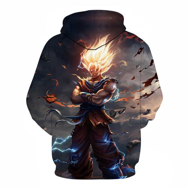 Super Saiyan Goku Casual hoodeie Dragon Ball  Hoodies