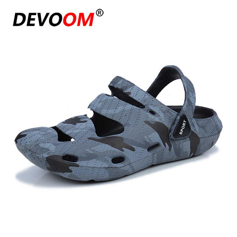 9e3abd904 Summer Aqua Shoes Outdoor Slide Sandals Mens Slippers Beach Sand Slippers  Men Camouflage Lovers Slides Couples