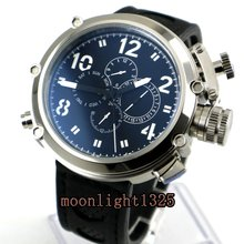 Fashion Parnis Mechanial 50mm Big Face black dial automatic Men's watch(China)