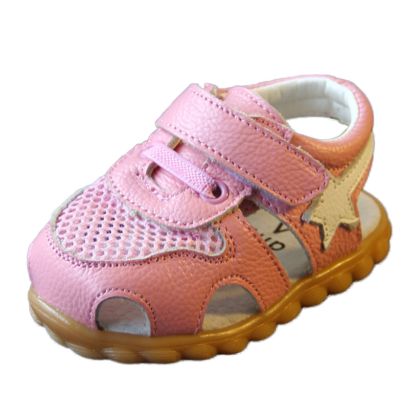 2018 Summer Genuine Leather Mesh Baby Shoes Boys and Girls Toddler Shoes  Children Hollow Sneaker Soft Sole Clogs