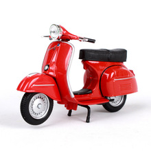 Maisto 1:18 Motorcykelmodeller VESPA Piaggio 1968GTR modellcykel Base Diecast Moto Children Toy To Gift Collection