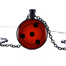 Naruto Sharingan Shippuuden Eyes Pendant Necklace Black Chain Vintage Necklace Men Jewelry Gift