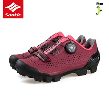 SANTIC Bicycle Mtb Shoes Women Breathable Mountain Shoes Sneakers Camping Anti-slip Shoes Self-Locking Bicycle Locks Shoes(China)