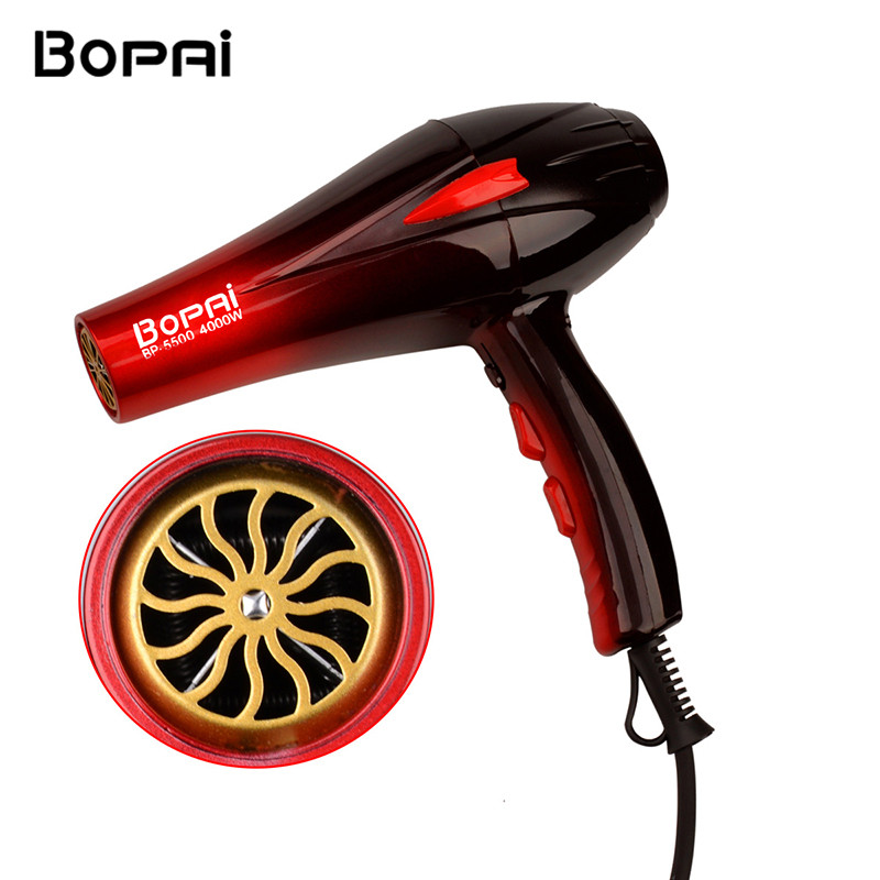 Professional Hair Dryer 4000W Hair Dryer Fast Styling Blow Dryer Hot And Cold Adjustment With Two Nozzles secador de pelo 5051