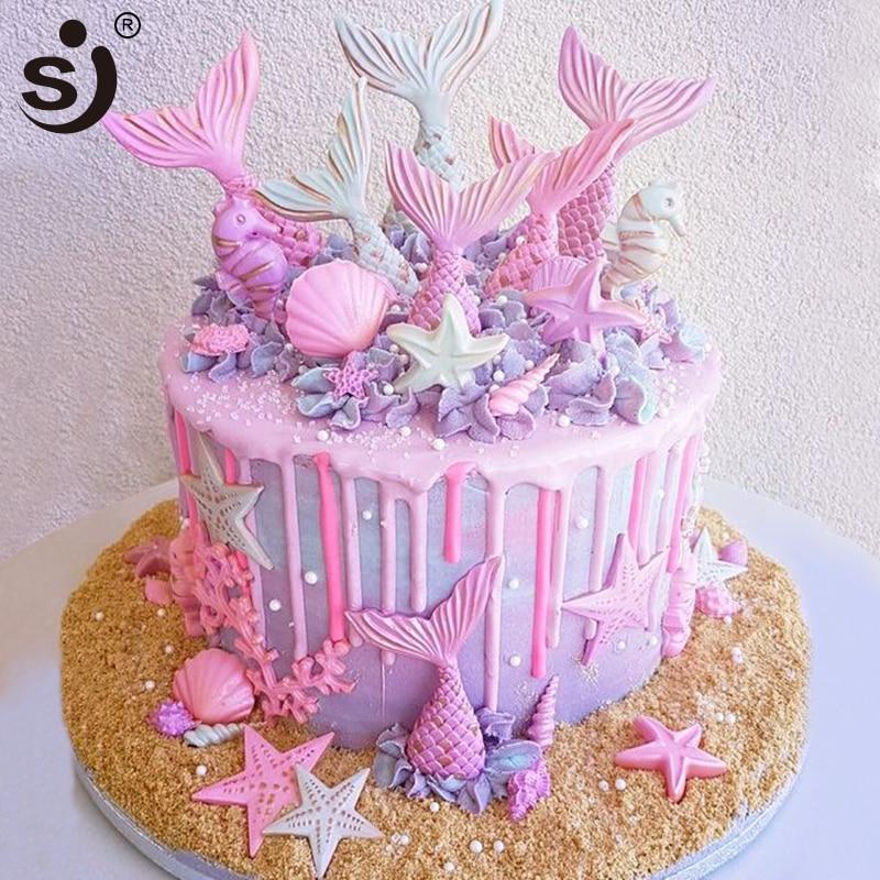 Turtle Sealife sea ocean animals 3D Silicone Mould Fondant Cupcake Baking Cake
