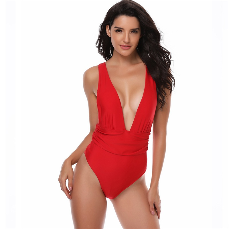 Sexy Women One Piece Swimsuit Deep V neck Bikini Backless Swimsuit Lady Swimwear Female Bathing Suit Swim Beachwear Monokini sbart women water sports swimsuit sexy scoop female swimsuit one piece swimwear women backless monokini bathing suit swim wear