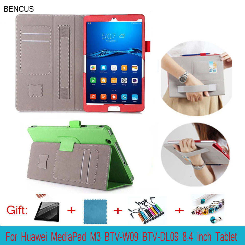 BENCUS High quality Auto Sleep Wake leather case cover For Huawei MediaPad M3 BTV-W09 BTV-DL09 8.4 inch Tablet cover case
