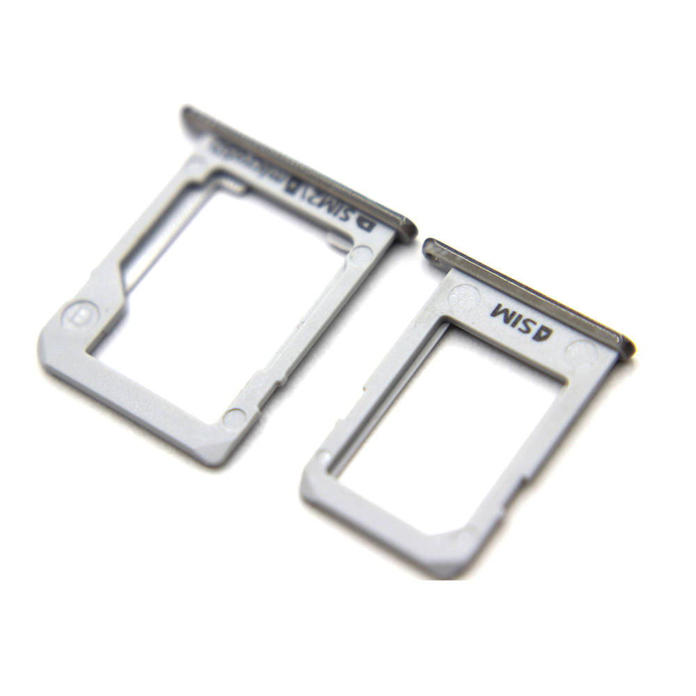 10 Set SIM Card Tray Holder + Micro SD Tray Slot Adapters For Samsung Galaxy E5 E500 E7 E700 Repair Parts Silver Color