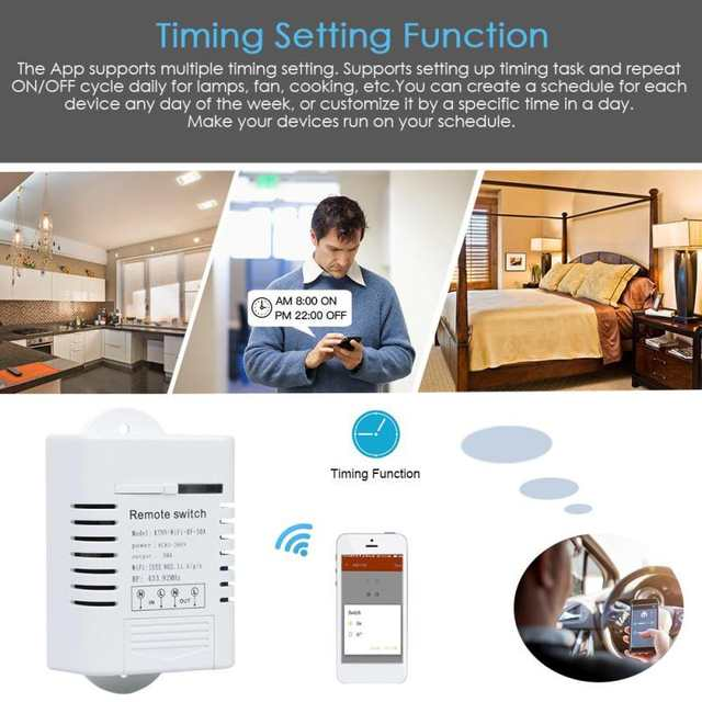 US $23 73 |QIACHIP WiFi Smart Switch Work With Amazon Alexa Google Home  Timing Function 433MHz Water Pump Switch w/ APP Remote Control DS30-in