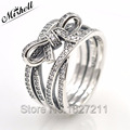 2016 Autumn 925 Sterling Silver Ring Delicate Sentiments Engagement Ring Fits European Jewelry With Logo For Women MISHELL