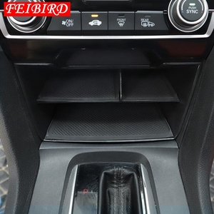 Image 5 - Iç aksesuarları Honda Civic Sedan 2016 2017 2018 2019 merkezi depolama paleti konteyner çok ızgara kutusu kapak kiti