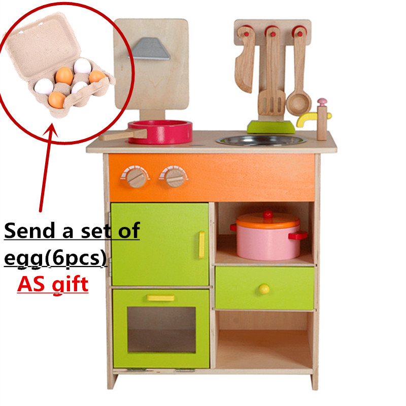 Детские развивающие Игрушечные лошадки Мебель набор моделирования Кухня деревянная игрушка Еда комплект собрать играть дома ребенка пода