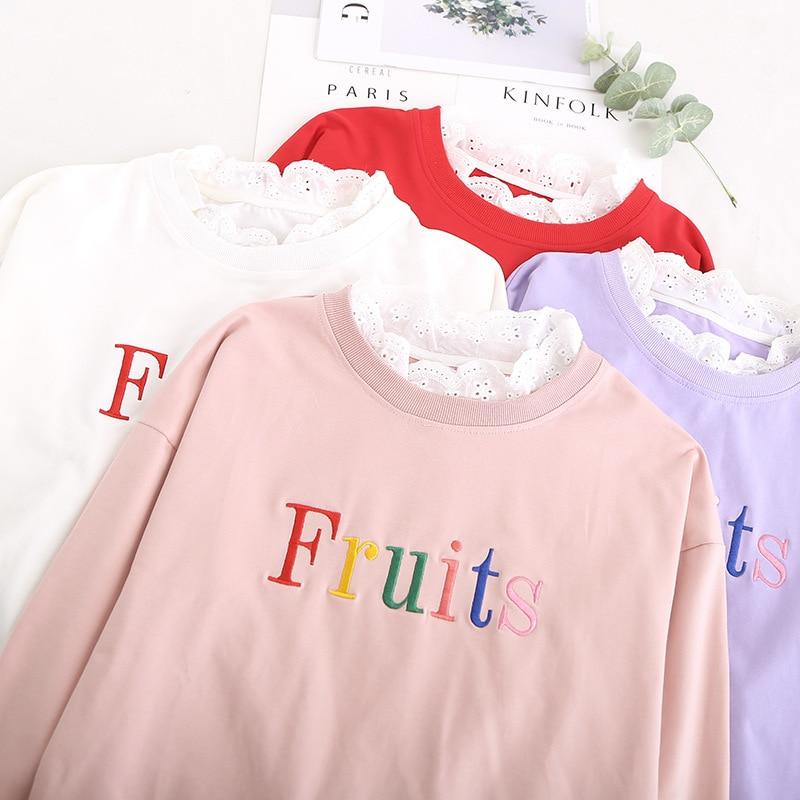 Rose rouge De Chemise Blouses Robe Deux D'été Mori Femmes Volants Collège Femelle Faux Fille Département Fruits Manches blanc Courtes Pièces Vêtements qUBqPHw